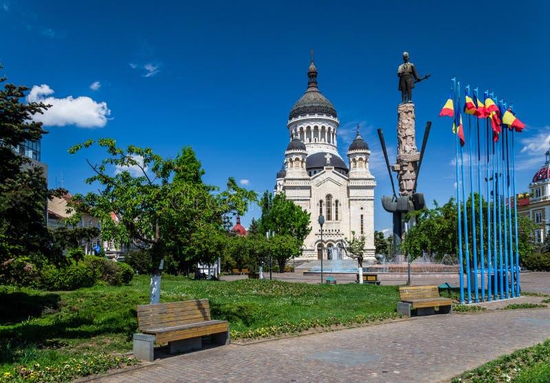Квадрат Avram Iancu, cluj-Napoca, Румыния стоковые фото