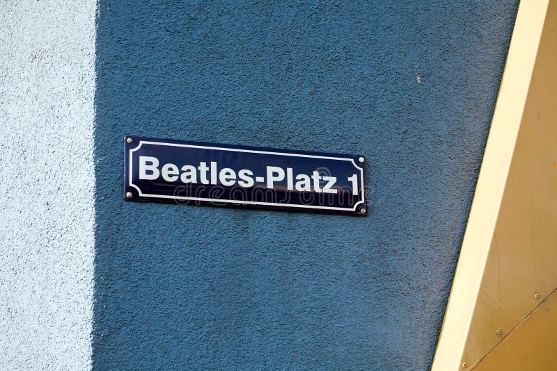 Квадрат Beatles на улице Reeperbahn, Гамбурге, Германии стоковое изображение