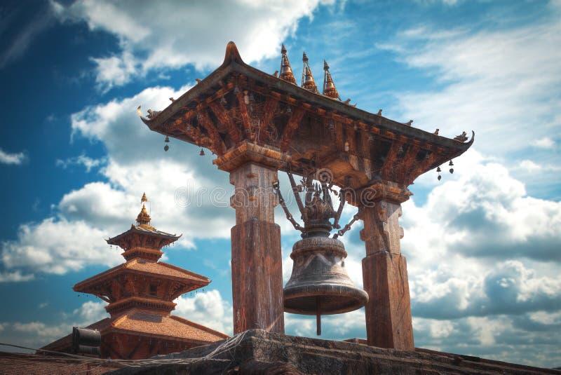 квадрат bhaktapur durbar стоковые изображения