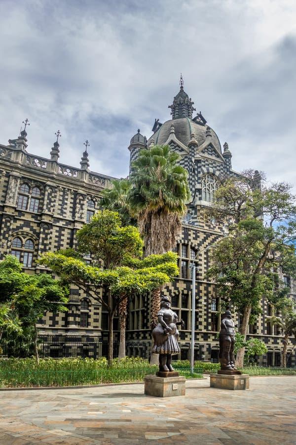 Квадрат Botero - Medellin, Antioquia, Колумбия стоковые изображения rf