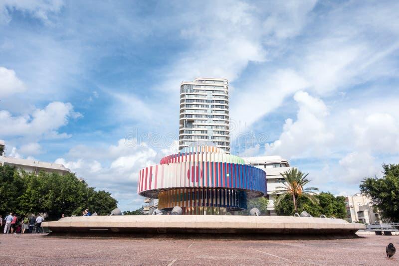 Квадрат Dizengoff, Тель-Авив стоковые фото