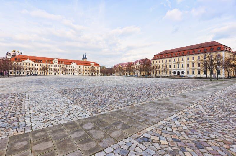Квадрат Domplatz, Магдебург стоковая фотография