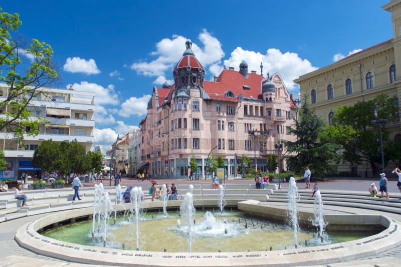 Квадрат Dugonics в Szeged стоковые изображения