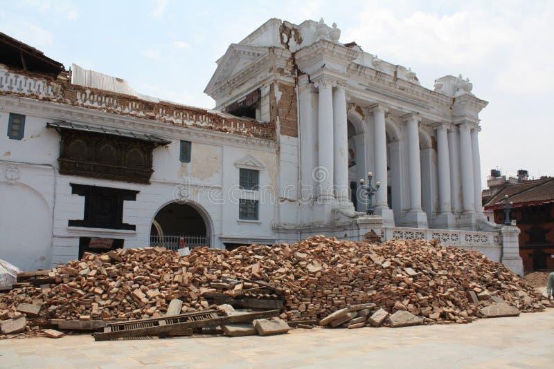 Квадрат Durbar после землетрясения 2015 стоковая фотография rf