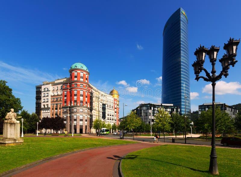 Квадрат Euskadi черник стоковая фотография