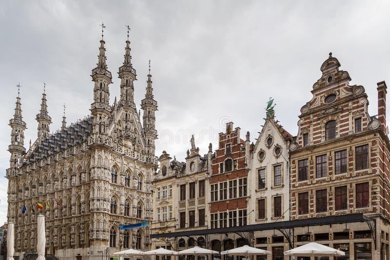 Квадрат Grote Markt (главным образом рынка), лёвен, Бельгия стоковая фотография