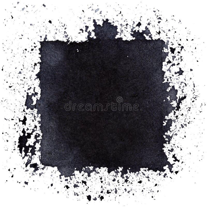 Квадрат Grunge черный иллюстрация штока