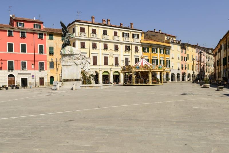 Квадрат Matteotti, Sarzana стоковая фотография rf