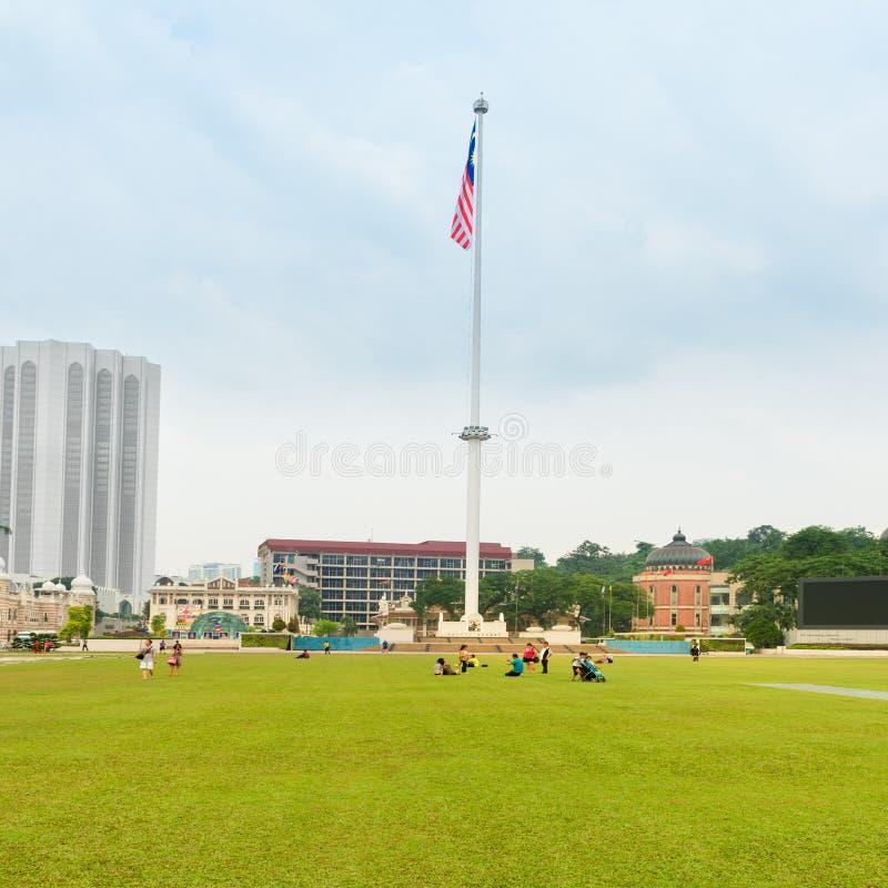 Квадрат Merdeka в Куалае-Лумпур стоковое изображение rf