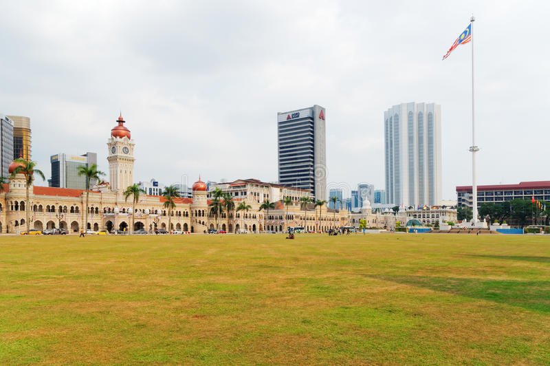Квадрат Merdeka, Куала-Лумпур, Малайзия стоковые изображения rf