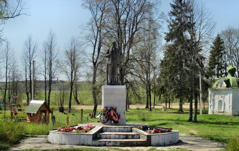 квадрат moscow памятника lenin kaluzhskaya 2009 частей стоковая фотография