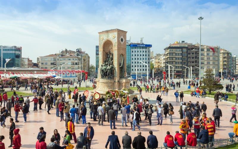 Квадрат Taksim в Стамбуле, Турции стоковые фотографии rf