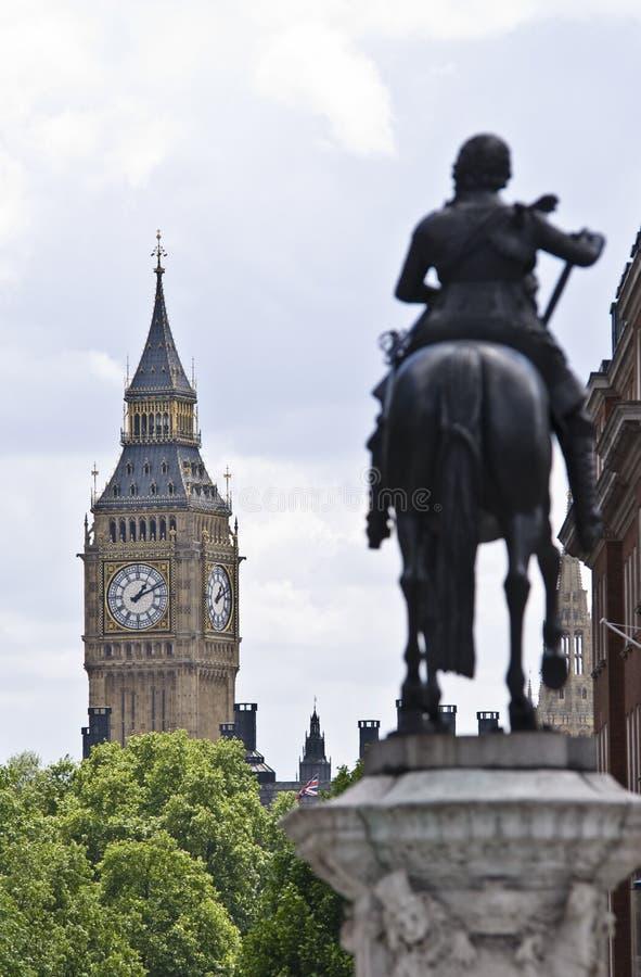 Квадрат Trafalgar и большое Бен стоковое изображение rf