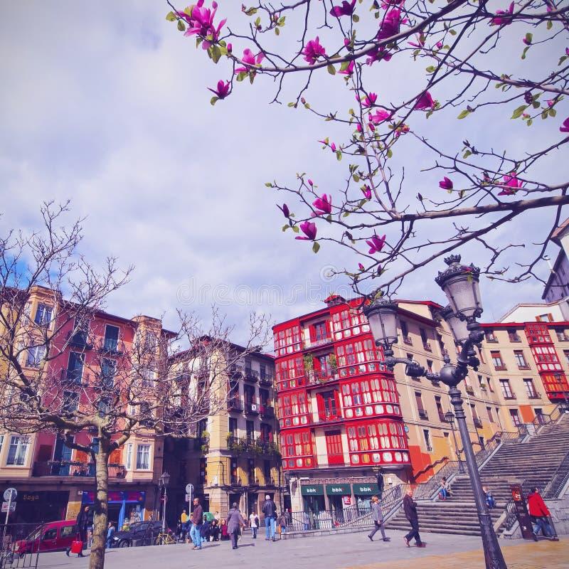 Квадрат Unamuno в Бильбао стоковое изображение rf