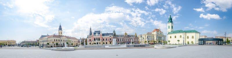 Квадрат Unirii в Oradea стоковые фотографии rf
