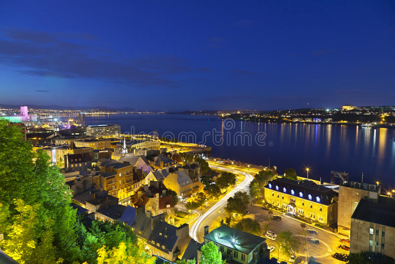 Квебек (город) и St. Река Lawrence, Канада стоковые изображения rf