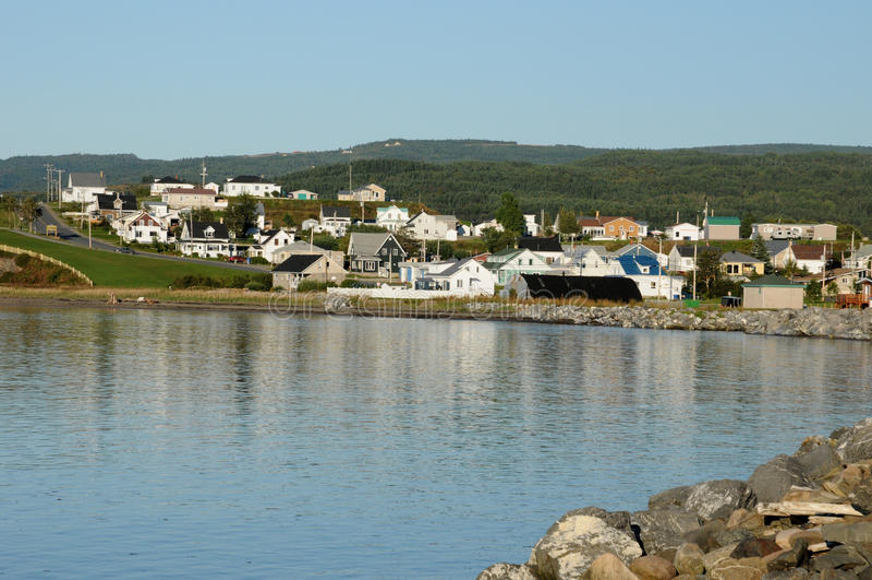 Квебек, малое село des Monts Sainte Аннеы стоковое изображение