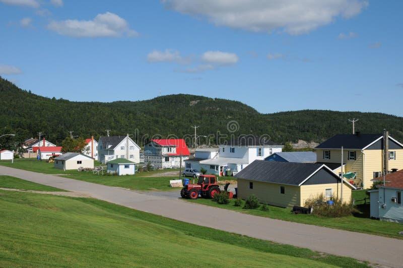 Квебек, маленькая деревня Baie Sainte Катрина стоковые изображения