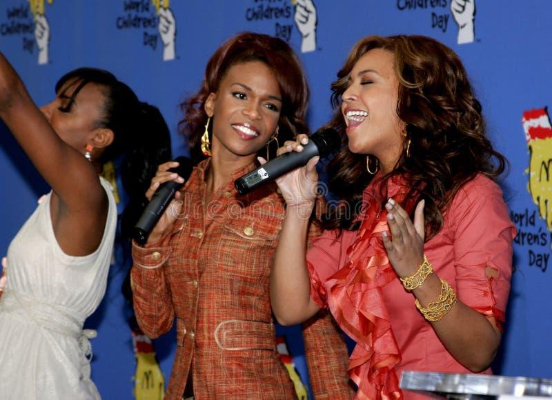 Келли Rowland, Мишель Уильямс и Beyonce Knowles стоковые фото