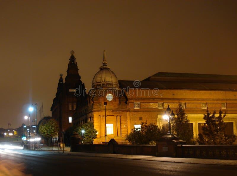 Кельвин Hall и движение ночи стоковое изображение rf
