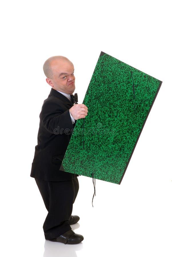 кельнер человека карлика маленький стоковые фото