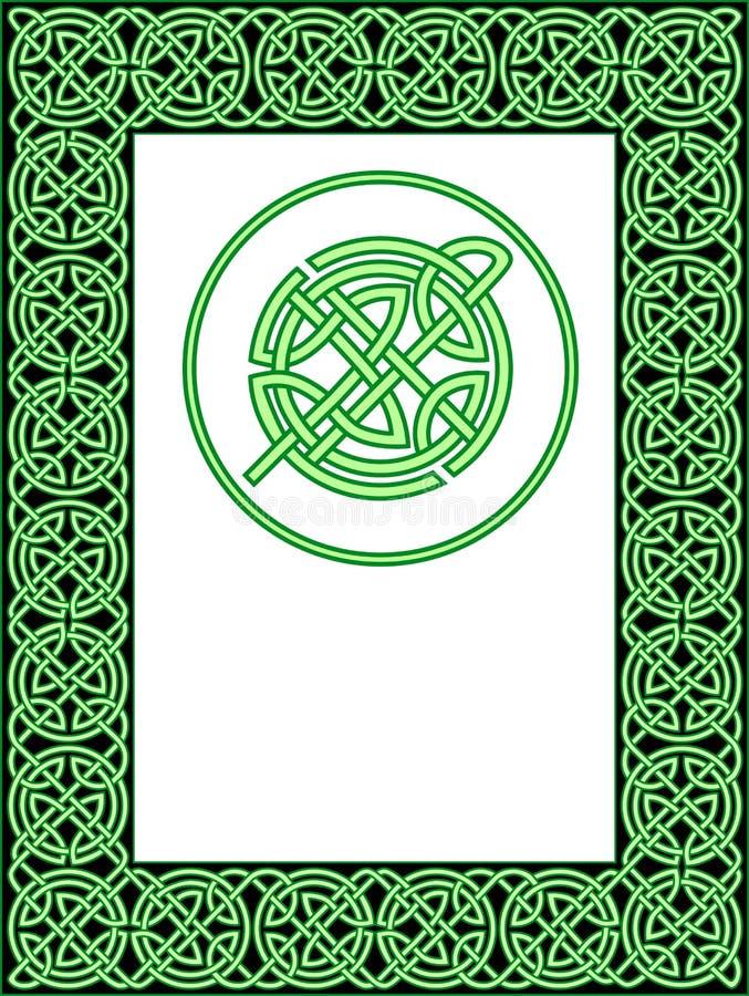 кельтская картина рамки иллюстрация вектора