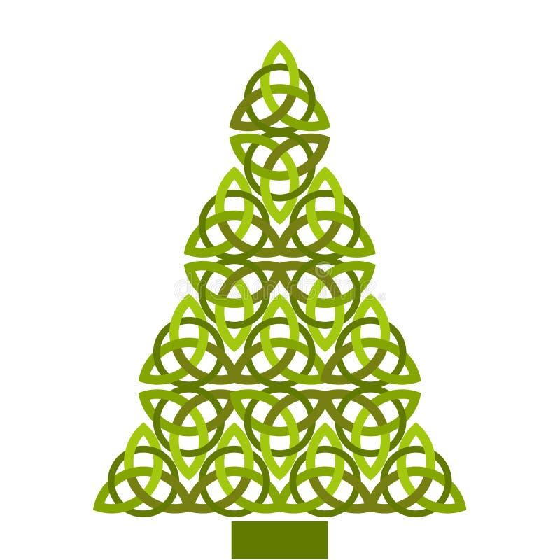Кельтская рождественская елка иллюстрация штока