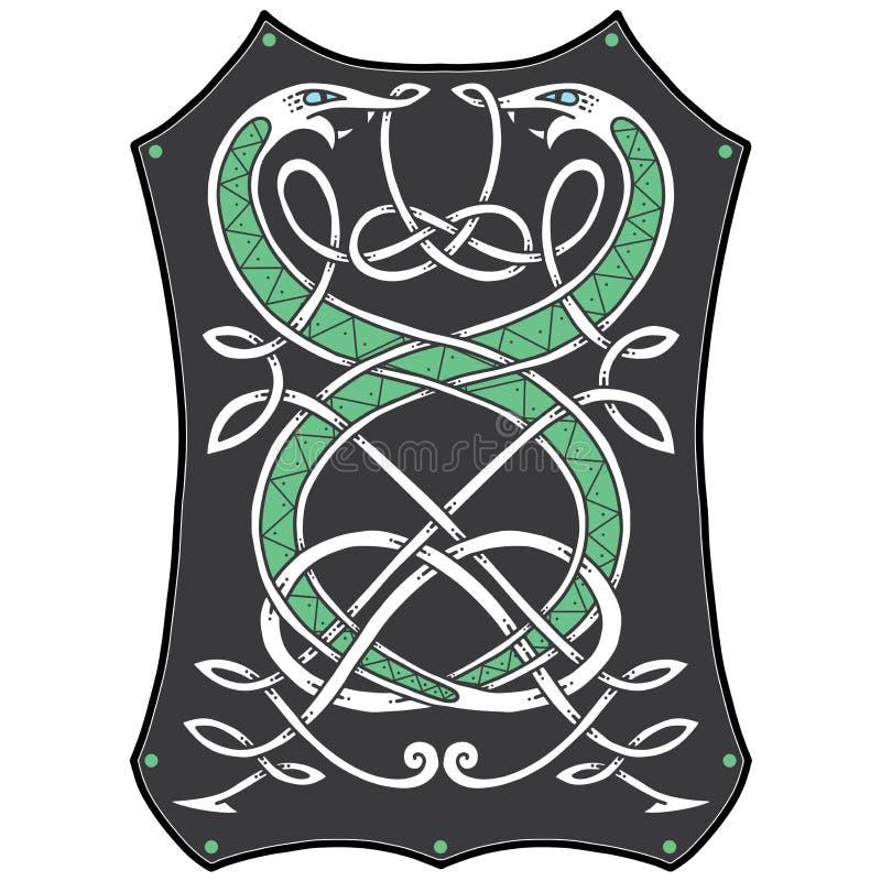 Кельтские картины узла с змейками бесплатная иллюстрация