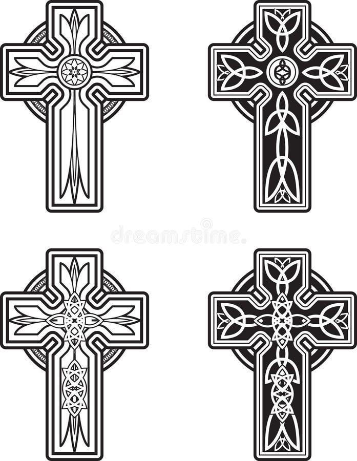 кельтские кресты иллюстрация вектора