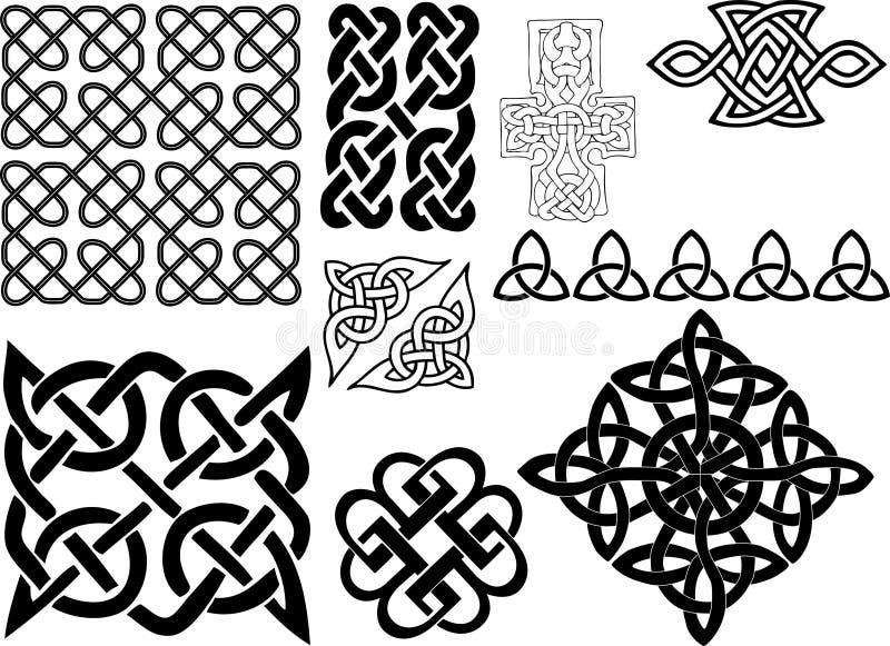 кельтские мотивы иллюстрация штока