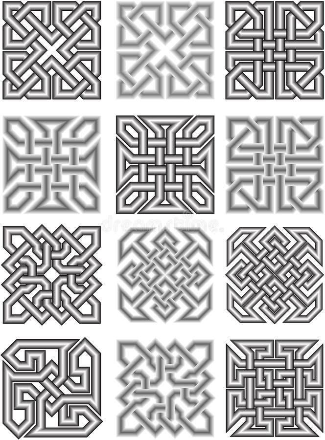 Кельтские традиционные орнаменты бесплатная иллюстрация