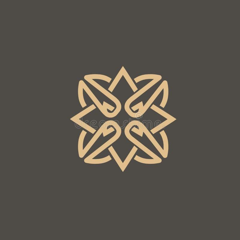 Кельтский вектор узла Орнаментальный символ татуировки Эмблема роскошного круга ретро Традиционный шотландский логотип вектора иллюстрация вектора