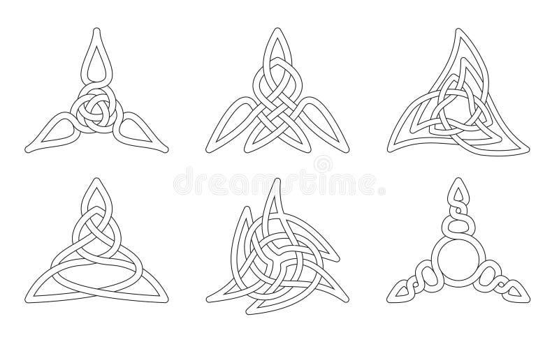 кельтский вектор узлов иллюстрация штока