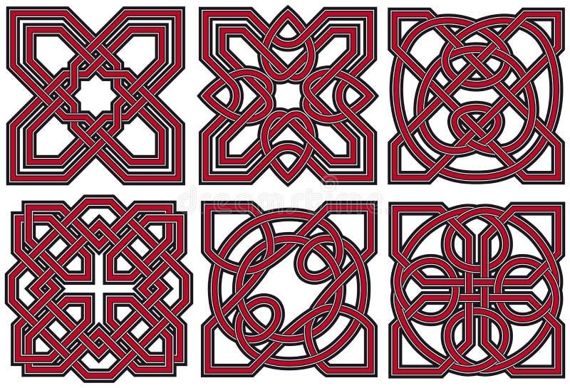 кельтский комплект элементов конструкции иллюстрация штока