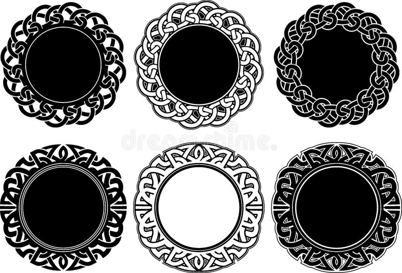 Кельтский комплект эмблемы иллюстрация штока
