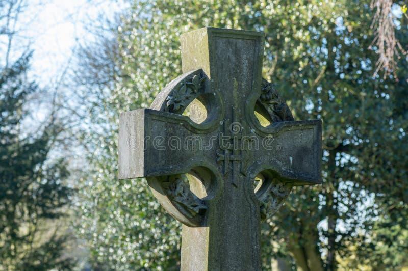 Кельтский крест с Nimbus или кольцом стоковое фото