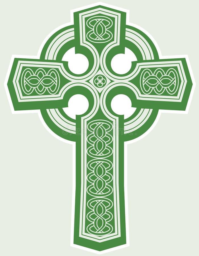 кельтский крест иллюстрация штока