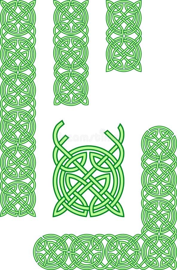 кельтский орнамент элементов иллюстрация вектора