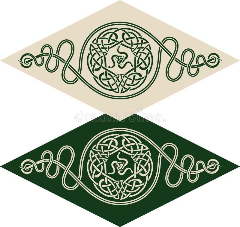 кельтский тип картины иллюстрация штока
