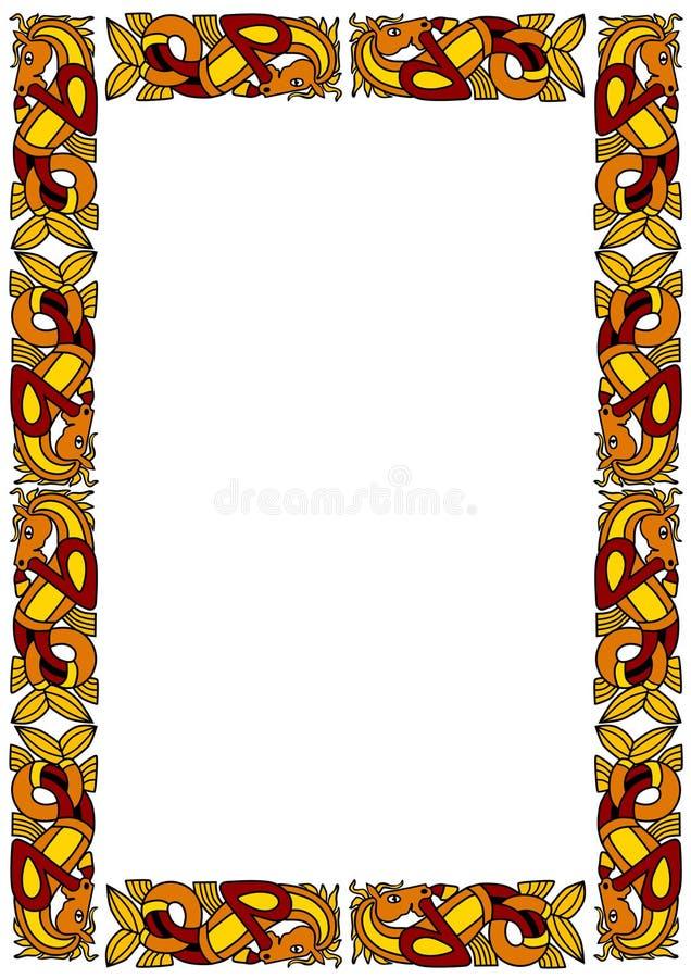 кельтский ornamental рамки иллюстрация вектора