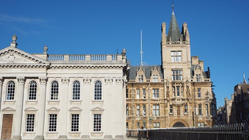 Кембридж, Англия Дом сената университета Кембриджа и коллежа Gonville и Caius стоковые изображения