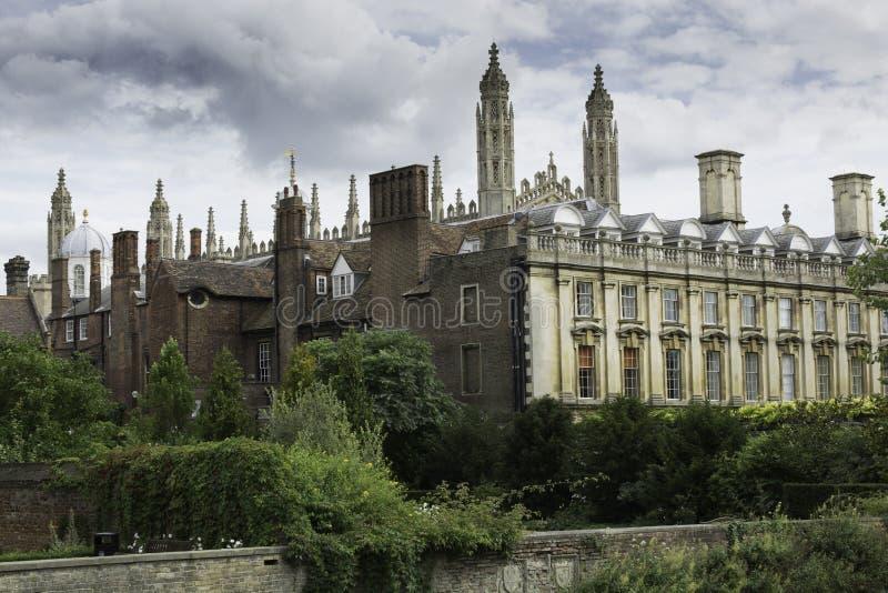 Кембриджский университет и короля Коллеж Часовня стоковое изображение