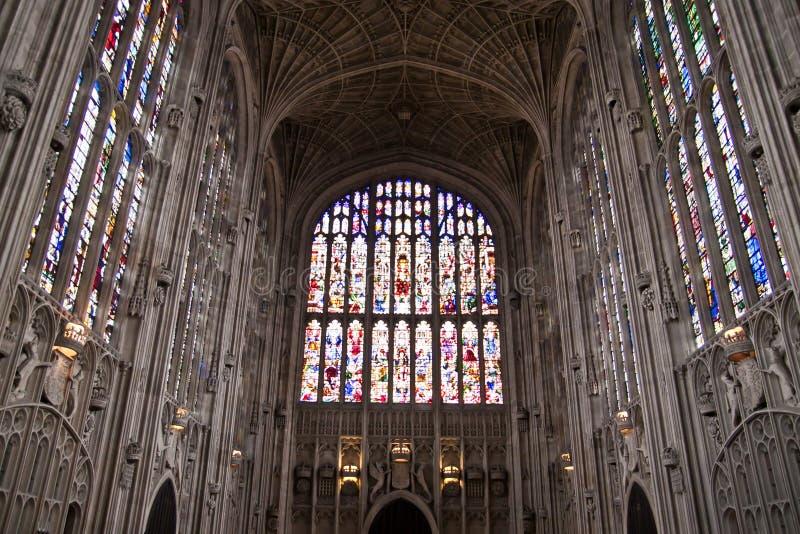 Кембриджский университет часовни коллежа королей стоковые фотографии rf
