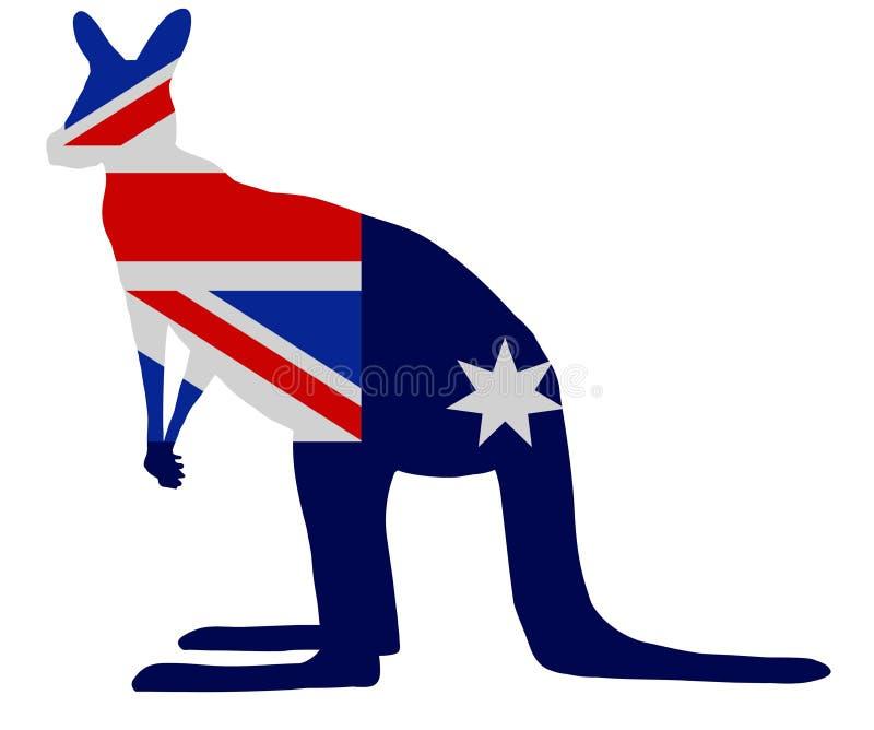 кенгуру флага иллюстрация штока