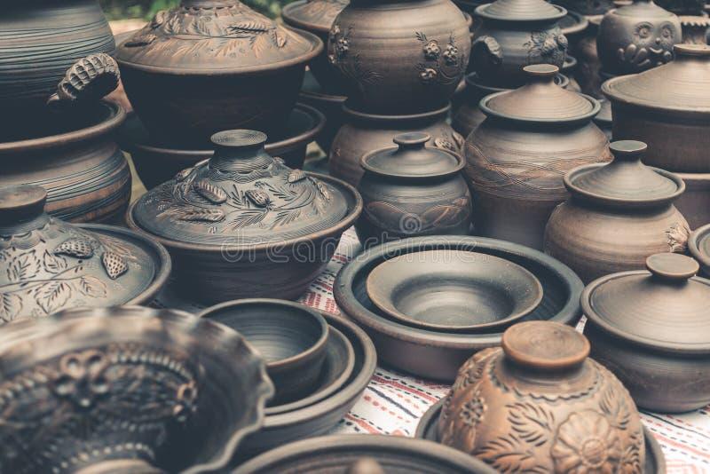 Керамика гончарни глины handmade стоковые изображения rf