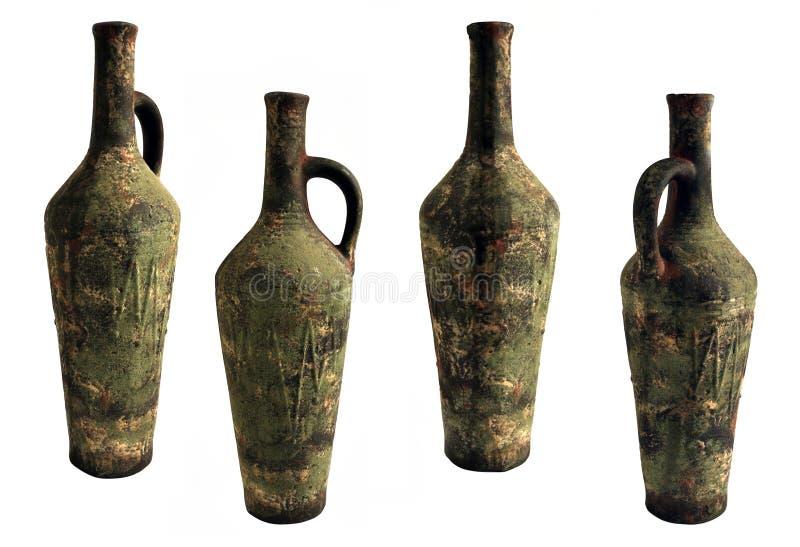 Керамическая бутылка вина стоковое фото rf