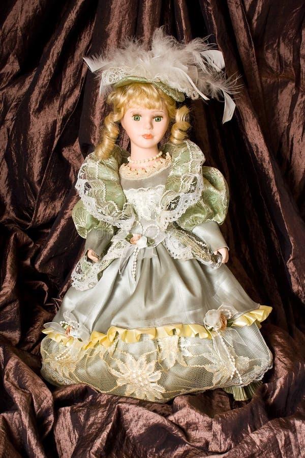 керамическая классическая кукла стоковое фото
