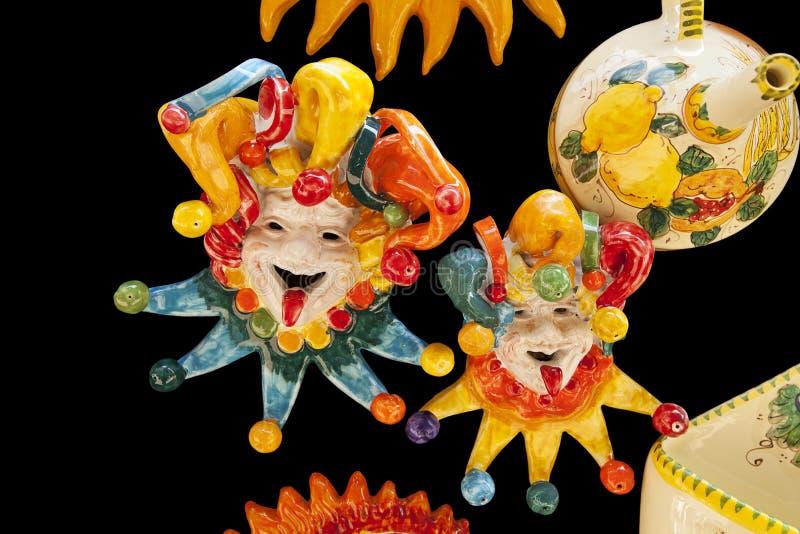 керамические клоуны итальянские стоковое фото