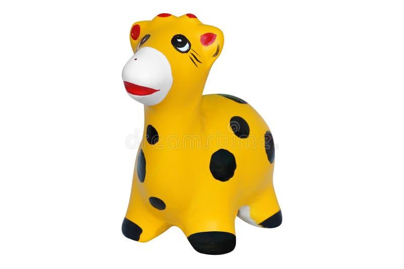 Керамические куклы жирафа изолированные на белизне стоковые фото