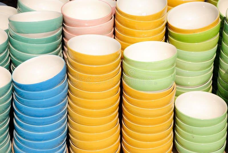керамические чашки стоковое фото